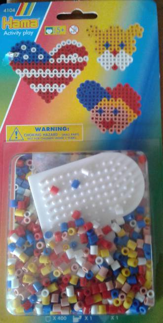Hama Heart Set 400 Beads H4104