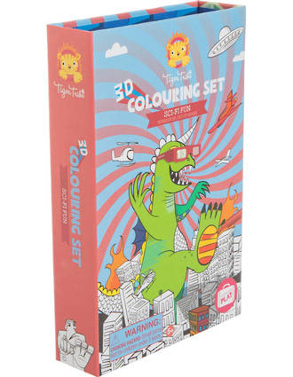 Tiger Tribe 3D Colouring Set