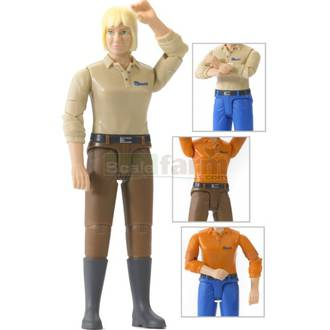 Bruder - bWorld Woman with Blonde Hair & Boots