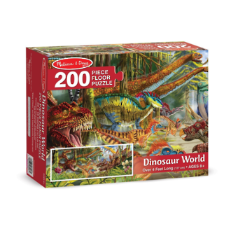 Melissa & Doug Floor Puzzle - Dinosaur World