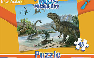 Dinosaurs of New Zealand - Wild Puzzle Art