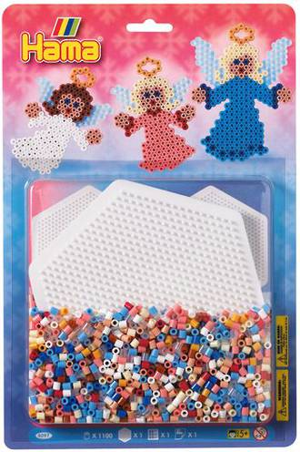 Hama Bead Kit  1 x Large Hexagon Shape Pegboard, 1100 Beads H4097