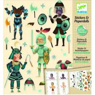 Djeco Stickers & Paperdolls Knights