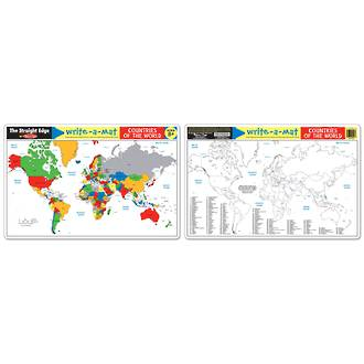 Melissa & Doug Countries Of The World Write A Mat