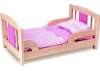 Pintoy Doll's Bed