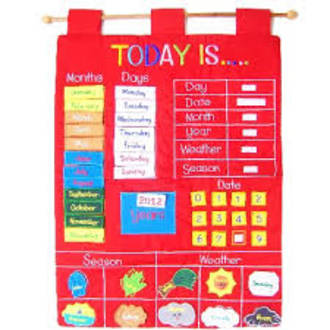 Today Is Children S Calendar Fabric Wall Chart