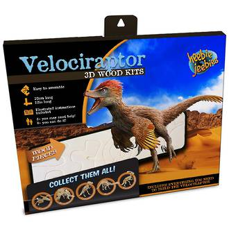 Velociraptor 3D Wood Kit