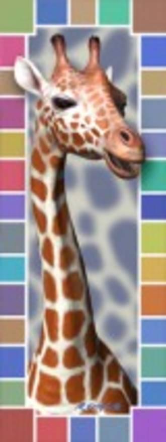 3D Bookmark - Giraffe