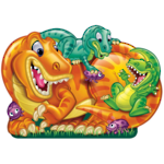 Two Sided Floor Puzzle Dinosaur Land