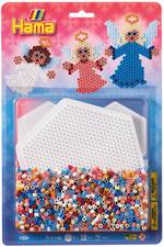 Hama Bead Kit Blister w/ 1 x Large Hexagonal Pegboard