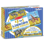4 in 1 Linking Floor Puzzle - Safari