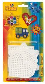 Hama Beads Small Pegboard Blister: Square, Circle, Hexagon, Heart & Star