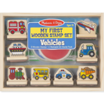 Melissa & Doug - My First Wooden Stamp Set Vehicles