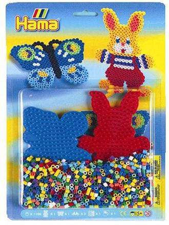 Hama Beads Rabbit & Butterfly