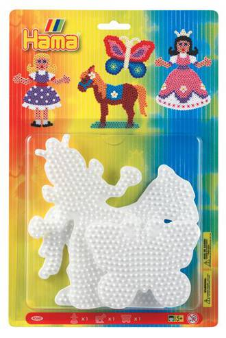 Hama Pegboard Blister Princess, Horse and Butterfly