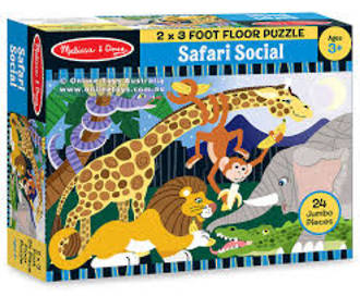 Floor Puzzle - Safari Social
