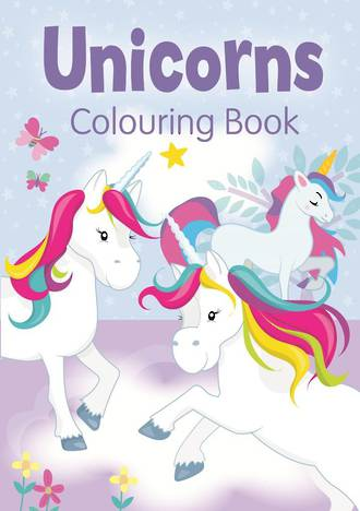 Unicorns Colouring Bk 2 Purple