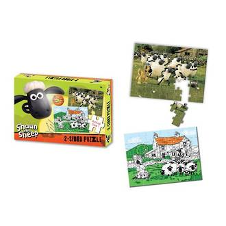 Shaun the Sheep 2 Sided Puzzle