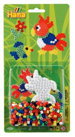 Hama Beads Blister Bead Kit w/ Parrot Pegboard
