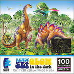 Glow in the Dark 100 Piece Puzzle Dinosaur