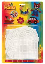 Hama Beads Large Pegboard Blister Pack: Heart, Square, Circle & Hexagon